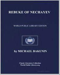 Rebuke of Nechayev by Bakunin, Michael
