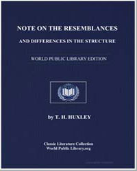 Note on the Resemblances and Differences... by Huxley, Thomas Henry