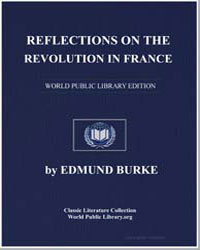 Reflections on the Revolution in France by Burke, Edmund