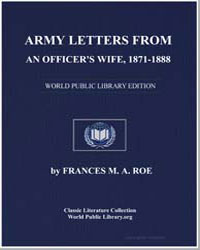 Army Letters from an Officer's Wife, 187... by Roe, Frances M. A.