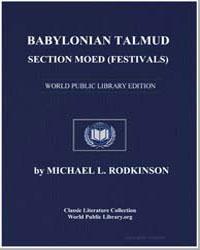 Babylonian Talmud : Section Mode (Festiv... by Rodkinson, Michael Levi