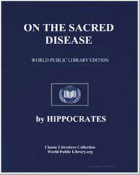 On the Sacred Disease by Adams, Francis