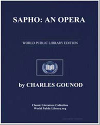 Sapho : An Opera by Augier, Guillaume Victor Emile