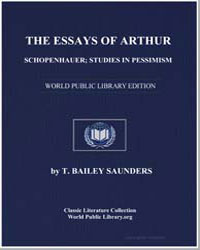 The Essays of Arthur Schopenhauer; Studi... by Saunders, T. Bailey (Thomas Bailey)