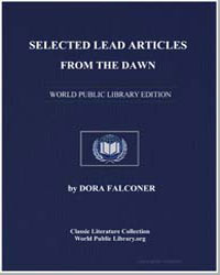 Selected Lead Articles from the Dawn by Falconer, Dora