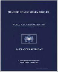 Memoirs of Miss Sidney Bidulph by Sheridan, Frances Chamberlaine