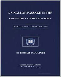 A Singular Passage in the Life of the La... by Ingolds, Thomas