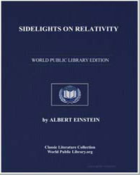 Sidelights on Relativity by Einstein, Albert