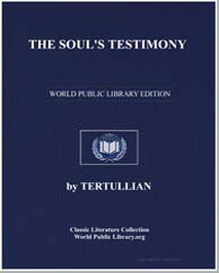 The Soul's Testimony by Tertullian