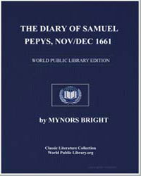 The Diary of Samuel Pepys, Nov/Dec 1661 by Bright, Mynors