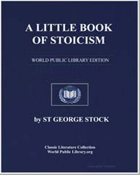 A Little Book of Stoicism by Stock, St. George