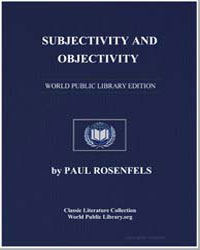 Subjectivity and Objectivity by Rosenfels, Paul