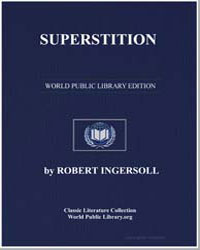 Superstition by Ingersoll, Robert Green