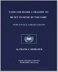 Tanis and Zelide a Tragedy to Beset to M... by Morlock, Frank J.