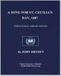 A Song for St. Cecilia's Day, 1687 by Dryden, John