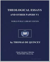Theological Essays and Other Papers : Vo... by De Quincey, Thomas