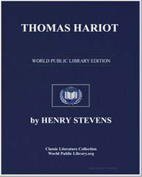 Thomas Hariot by Stevens, Henry