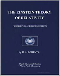 The Einstein Theory of Relativity: A Con... by Lorentz, H. A.