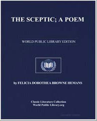 The Sceptic; A Poem by Hemans, Felicia Dorothea Browne, Mrs.