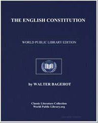 The English Constitution by Bagehot, Walter