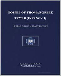 Gospel of Thomas Greek Text B (Infancy 3... by