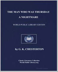 The Man Who Was Thursday : A Nightmare by Chesterton, Gilbert Keith