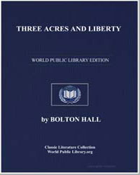 Three Acres and Liberty by Hall, Bolton