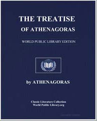 The Treatise of Athenagoras by Pratten, B. P.