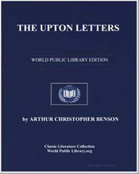 The Upton Letters by Benson, Arthur Christopher