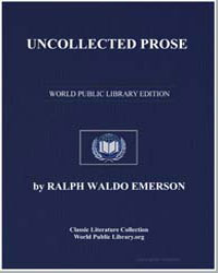 Uncollected Prose by Emerson, Ralph Waldo