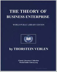 The Theory of Business Enterprise by Veblen, Thorstein