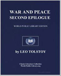 War and Peace, Second Epilogue by Tolstoy, Leo Nikoleyevich