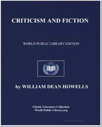 Criticism and Fiction by Howells, William Dean, Editor