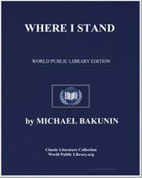 Where I Stand by Bakunin, Michael
