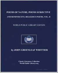 Poems of Nature, Poems Subjective and Re... by Whittier, John Greenleaf