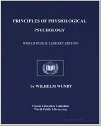 Principles of Physiological Psychology by Wundt, Wilhelm