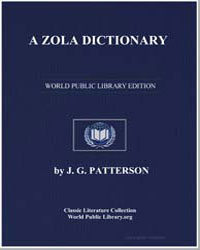 A Zola Dictionary by Patterson, J. G.