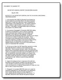 Report of the Secretary-General on the S... by