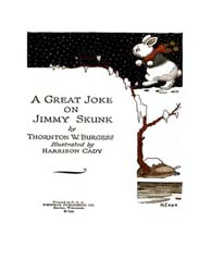 A Great Joke on Jimmy Skunk by Burgess, Thornton Waldo