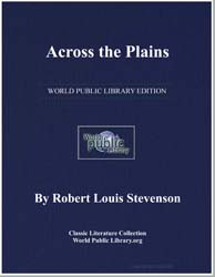 Across the Plains by Stevenson, Robert Louis