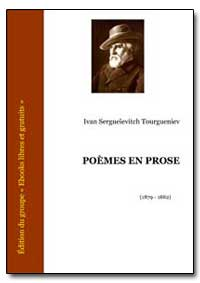 Poemes en Prose by Tourgueniev, Ivan Sergueievitch