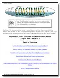 Information about Estuaries and Near Coa... by Environmental Protection Agency