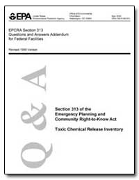 Epcra Section 313 Questions and Answers ... by Environmental Protection Agency
