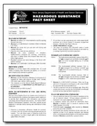 Hazard Summary by Environmental Protection Agency