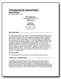 Cps/Madison Industries by Environmental Protection Agency