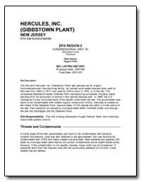 Hercules, Inc (Gibbstown Plant) by Environmental Protection Agency