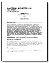 Kauffman and Minteer, Inc. by Environmental Protection Agency