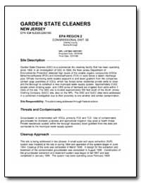 Garden State Cleaners by Environmental Protection Agency