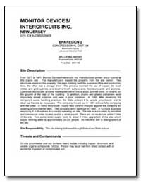 Monitor Devices/ Intercircuits Inc. by Environmental Protection Agency