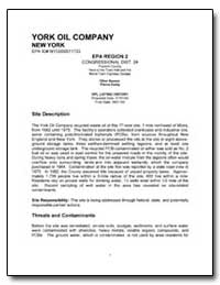 York Oil Company by Environmental Protection Agency